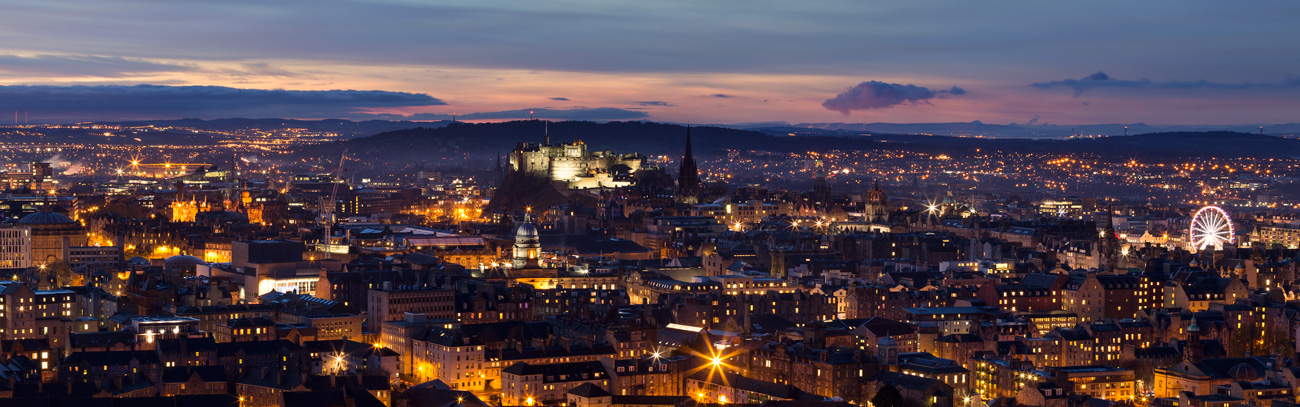 Edinburgh Night Panorama