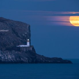Bass Rock Supermoon